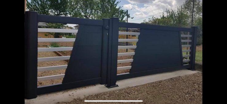 Portillon GRAFIC avec une partie de clôture