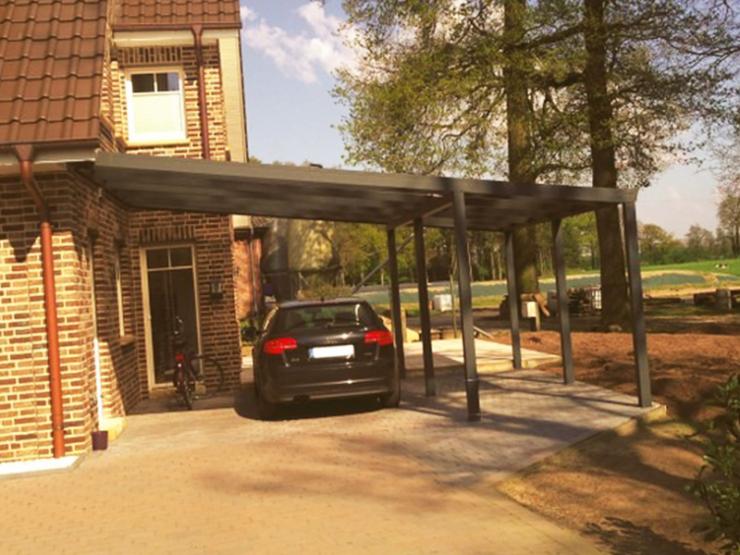 carport double alu maison