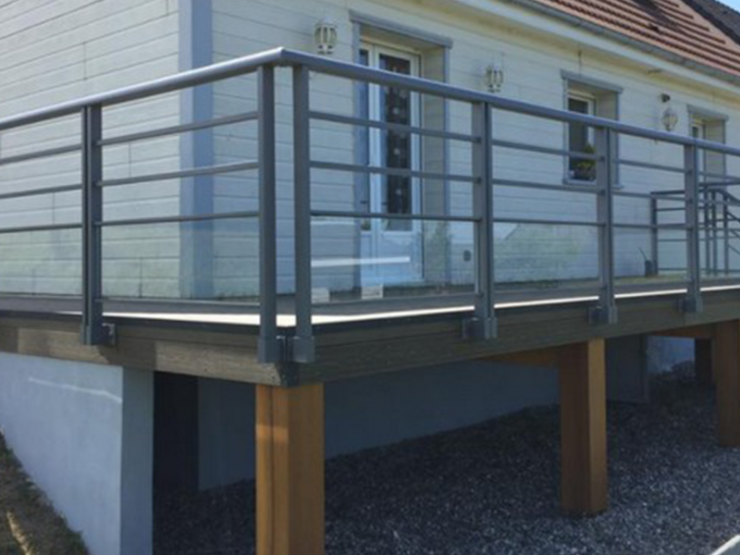 Garde corps alu pour terrasse