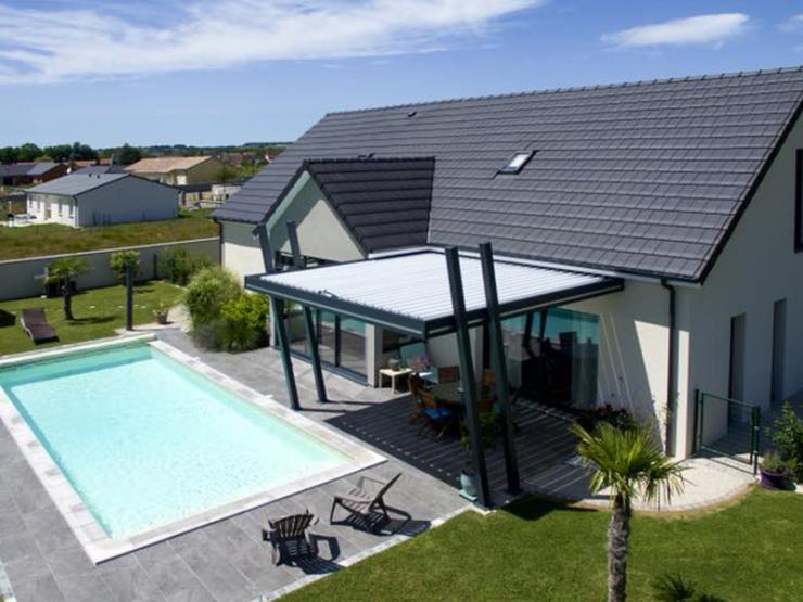 pergola bioclimatique maison alu design