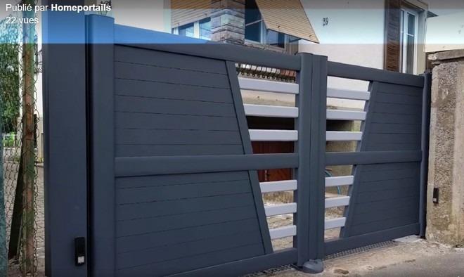 portail alu deux battants grafic art et portail
