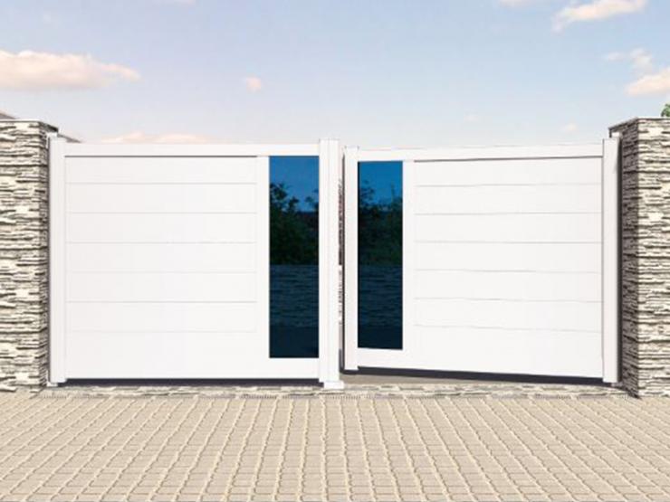 portail blanc alu attractiv